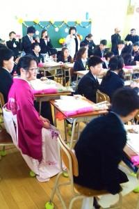 小学校卒業式 (1)